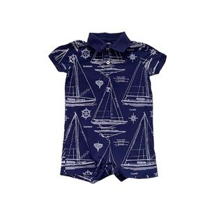Ralph Lauren blue and white nautical romper 12M
